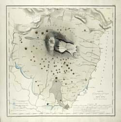 19th Century map of Mt Etna.