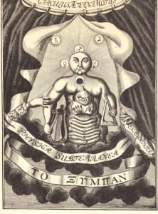 Frontispiece of Johann Becher's Physica Subterranea, 1669.
