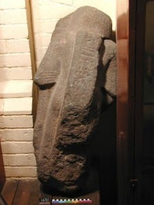 No-one puts a Prince in the corner: UC14701, a statue of a 'Viceroy of Kush' before conservation and remounting.