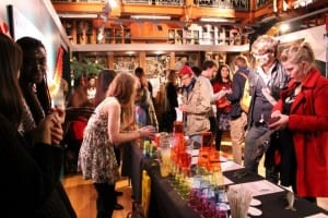 "A shot of the busy bar at our event ""Animal Instincts: Sex and the Senses""."