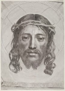 Mellan, Claude, (1598-1688), The Sudarium of St. Veronica, UCL Art Museum