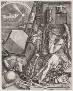 Melancholia, Wierix, Johan (1549-1618) after Dürer, Albrecht (1471-1528), Engraving
