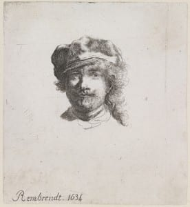 Rembrandt Wearing a Soft Cap, after Rembrandt van Rijn (1606-1669), Etching, 1634, UCL Art Museum Collection