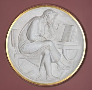 Collins the Poet Contemplating the Holy Bible. Monument to William Collins, 1795