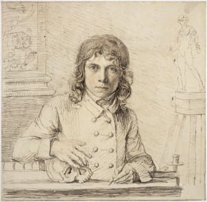 John Flaxman, Self-Potrait at the Age of Twenty-Four, 1779, pen and ink, UCL Art Museum