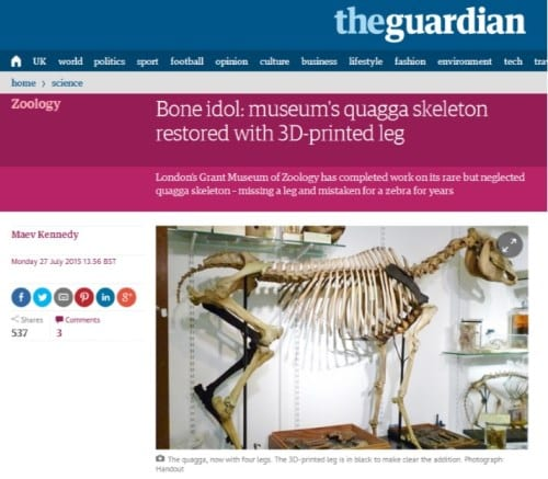 A second Guardian quagga article