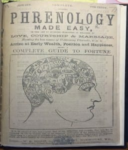 1. A contemporary phrenological journal -  'Phrenology Made Easy'. Photo by author.