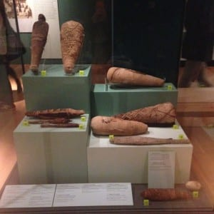 Petrie museum object number UC30690 (top left) is currently keeping good company in Manchester Museum's 'Gifts to the Gods' exhibition.