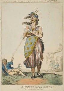 9.Issac Cruikshank, A Republican Belle, A Picture of Paris for 1794, UCL Art Museum