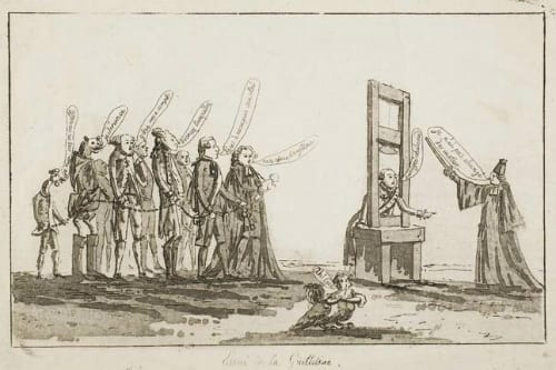 Anonymous, Essai de la Guillotine, 1793, UCL Art Museum