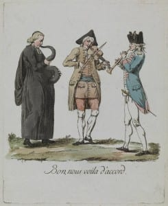 Anonymous Bon, nous voila d'accord (Good, now we are in tune), 1789 Coloured etching, UCL Art Museum