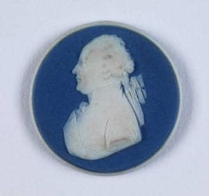 Josiah Wedgewood (1730 – 1795), Philippe-Égalité, 1790-2 (White jasper ware, dipped in dark blue, applied jasper ware reliefs)
