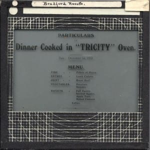 "Slide EE1877, Dinner Cooked in ""Tricity"" Oven"