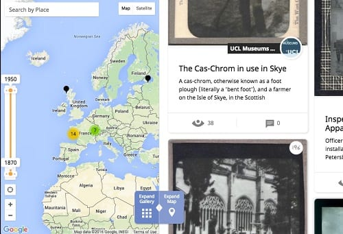 UCL's slide collection on Historypin