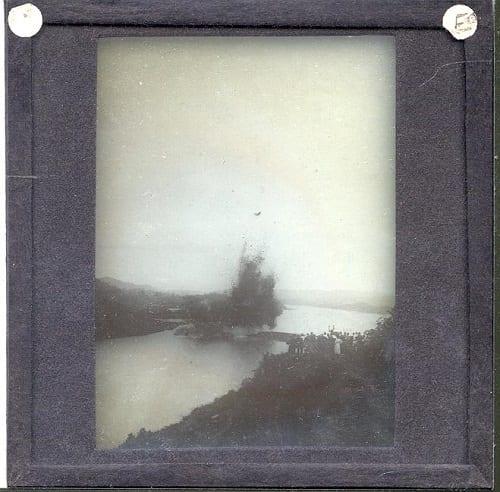 Slide EE1934, Atlantic to Pacific Trail blasting operation