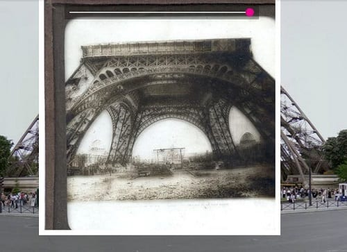 Slide EE2485, Eiffel Tower under construction