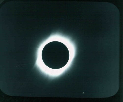 Slide EE123, Solar Eclipse, Mauritius, 18 May 1901