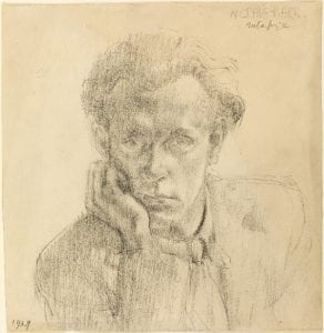 UCL6602 Portrait of a Man, 1939 by Nancy Dorothea Craig-Barr. Name inscribed at upper right.