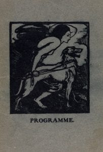 Elinor Monsell, Programme Cover