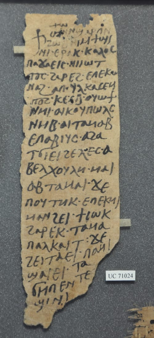 Coptic letter on paper (UC71024)