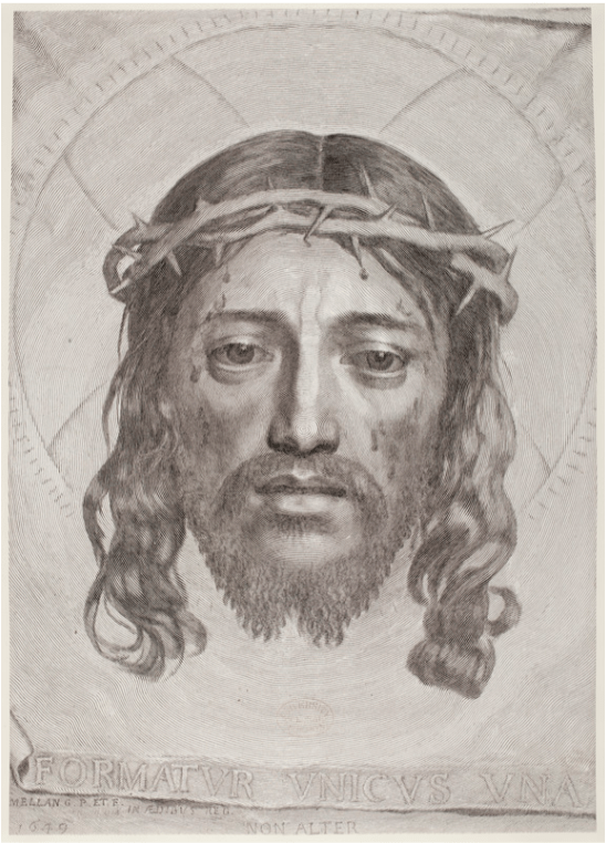 The Face of Christ / Sudarium of Saint Veronica by Claude Mellan
