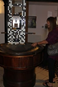 Ornate washbasin in The Knights Templar pub