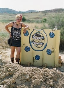 Me with the Elvis toilet, designed, built and decorated by myself: with much help from my talented friends.