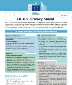 Privacy Shield Fact Sheet