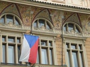 Czech flag Sedlcany