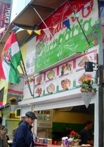 Harbry Ellerby: Hungarian stall in Camden