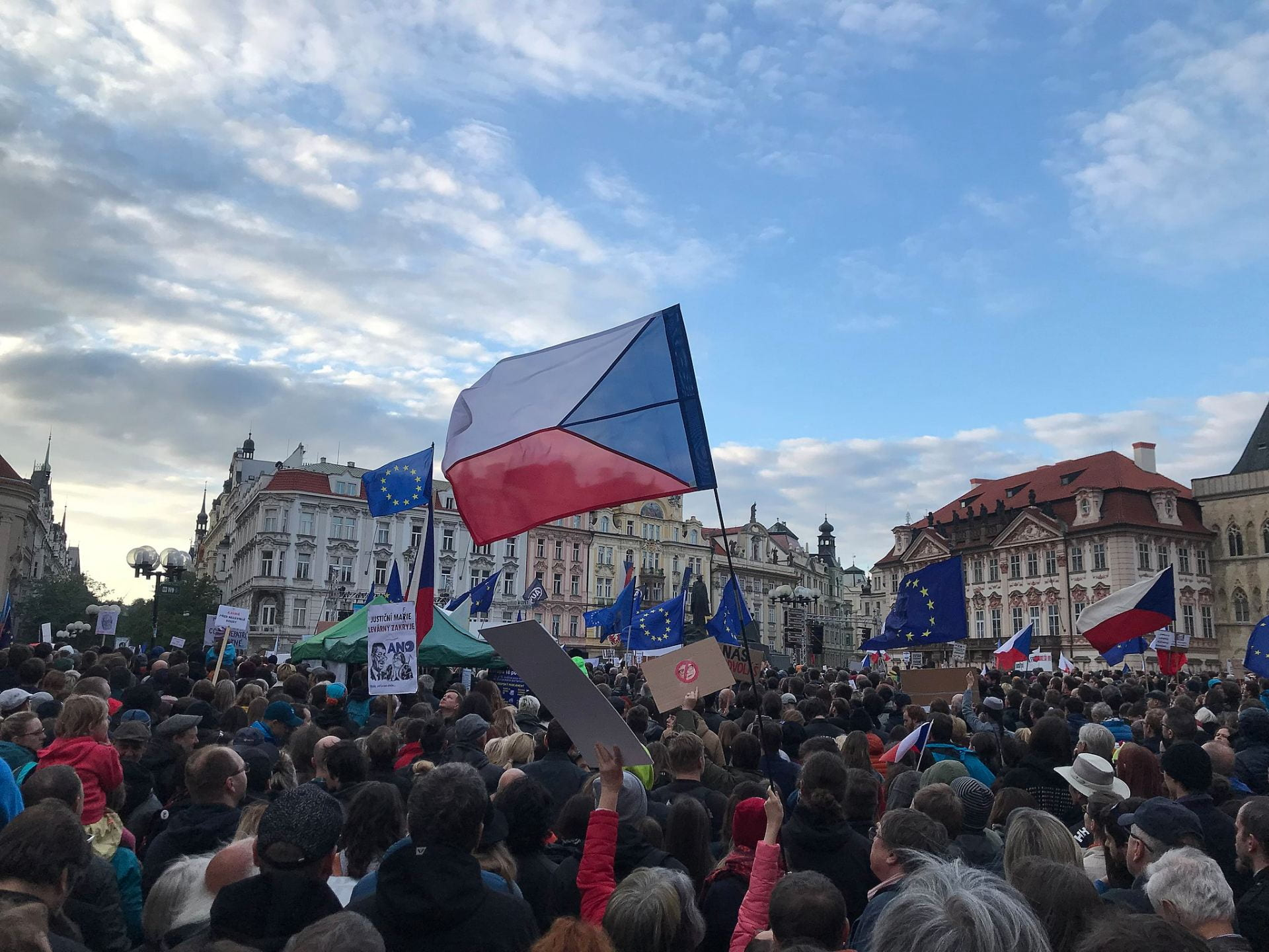 Demonstration in Prague