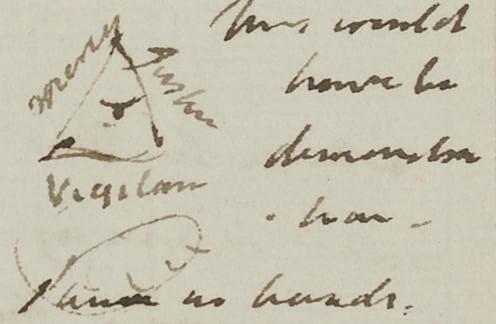 Jeremy Bentham: Panopticon surmounted with the Eye of God (1791)