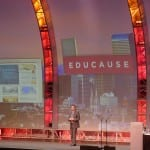 Ed Ayers on stage at Educause