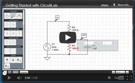 Nice to find a free circuit simulation tool | UCL Digital Education