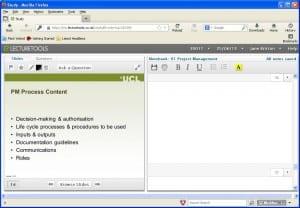 LectureTools student screenshot