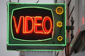 neon video sign