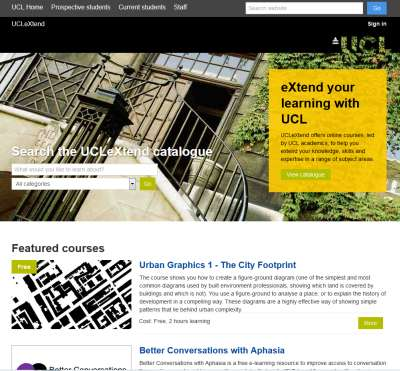 UCLeXtend homepage - https://extend.ucl.ac.uk