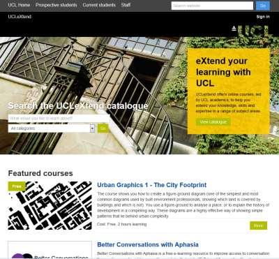 UCLeXtend homepage - https://extend.ucl.ac.uk