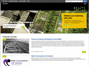 UCLeXtend homepage - November 2014