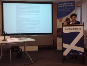 Prof Sally Mapstone and some of the LERU recommendations.