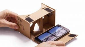 Google released 'Cardboard' a low-threshold version which converts smartphones into VR machines (kinda...)