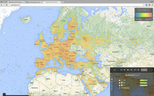 Map of 3G and 4G across Europe - speeds can reach 10Mbps - 20Mbps
