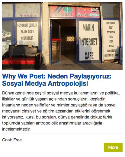 Turkish? Why We Post: Neden Paylaşıyoruz: Sosyal Medya Antropolojisi :)