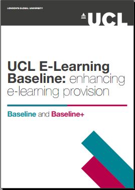 UCL E-Learning Baseline 2016