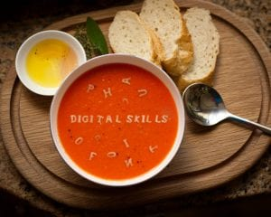 Bowl of soup digital skills