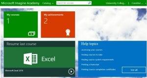 Microsoft Imagine Academy learner site