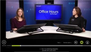 Still from an Office Hours course