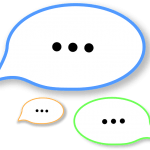 Three speech bubbles