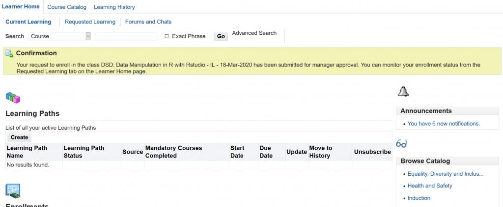Data Manipulation class confirmation