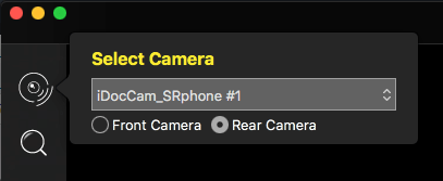 The phone can be selected from the list of cameras available in the IPEVO Visualizer software